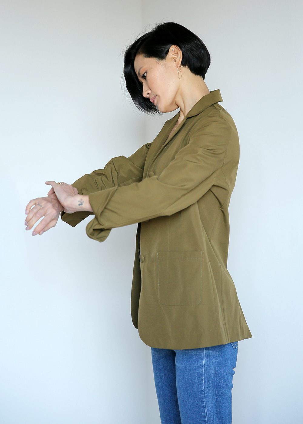 Easy Match Spring Jacket Olive Green