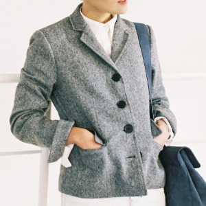 [케임어폰] Classic Wool Jacket_Basic Black