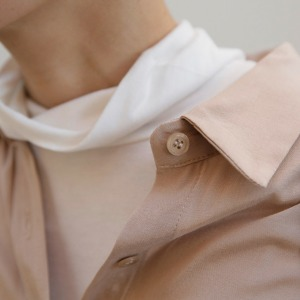 [케임어폰] Super Soft Cotton Turtleneck_Milky White/Beige