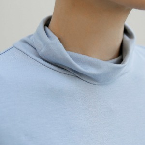 [케임어폰] Super Soft Cotton Turtleneck_Marble Blue/Black