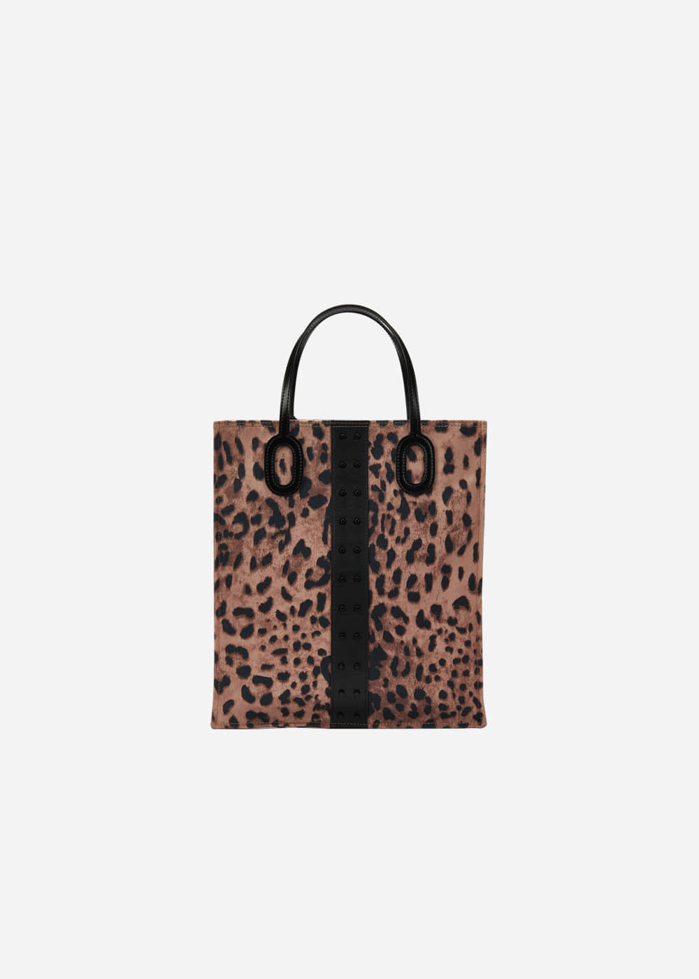 O Handle Tote Leopard