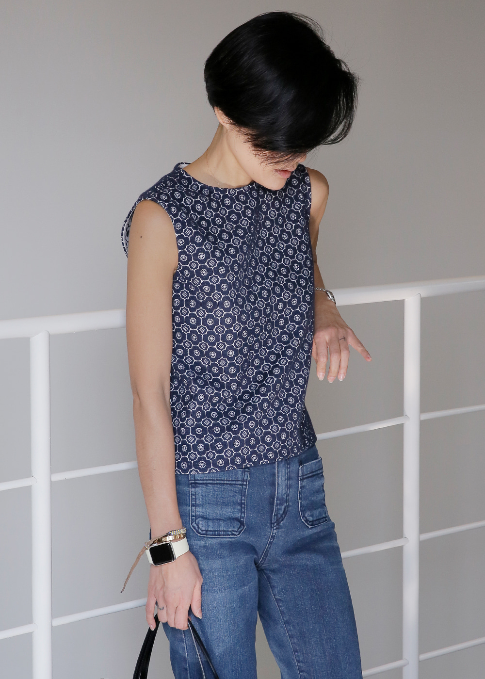 Not So Basic Sleeveless Denim Navy