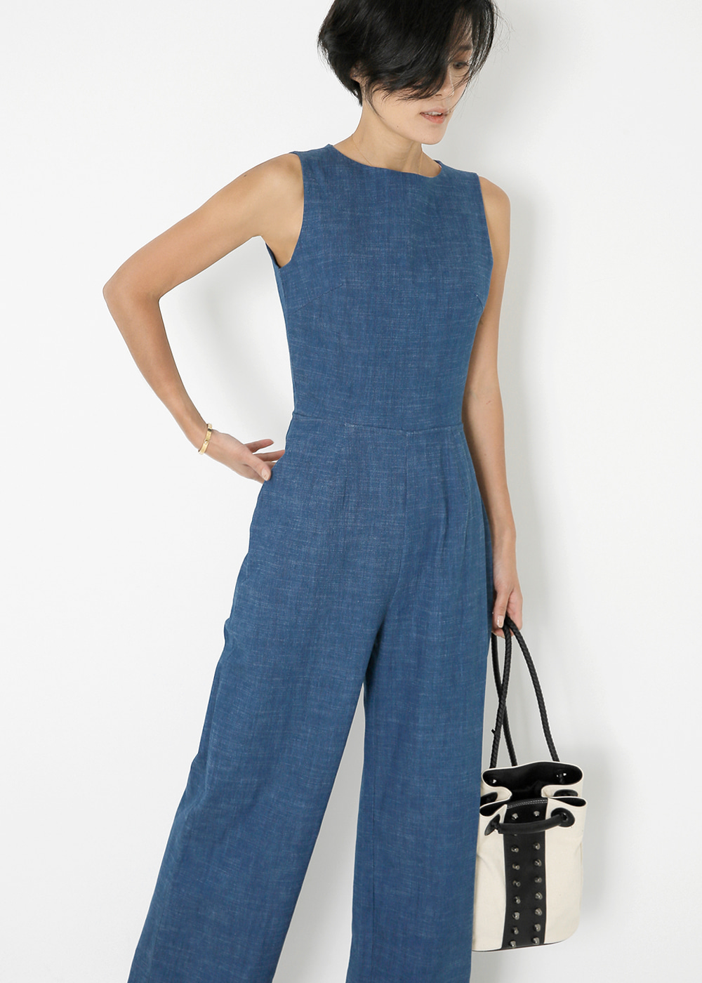 Denim Cutout Jumpsuit