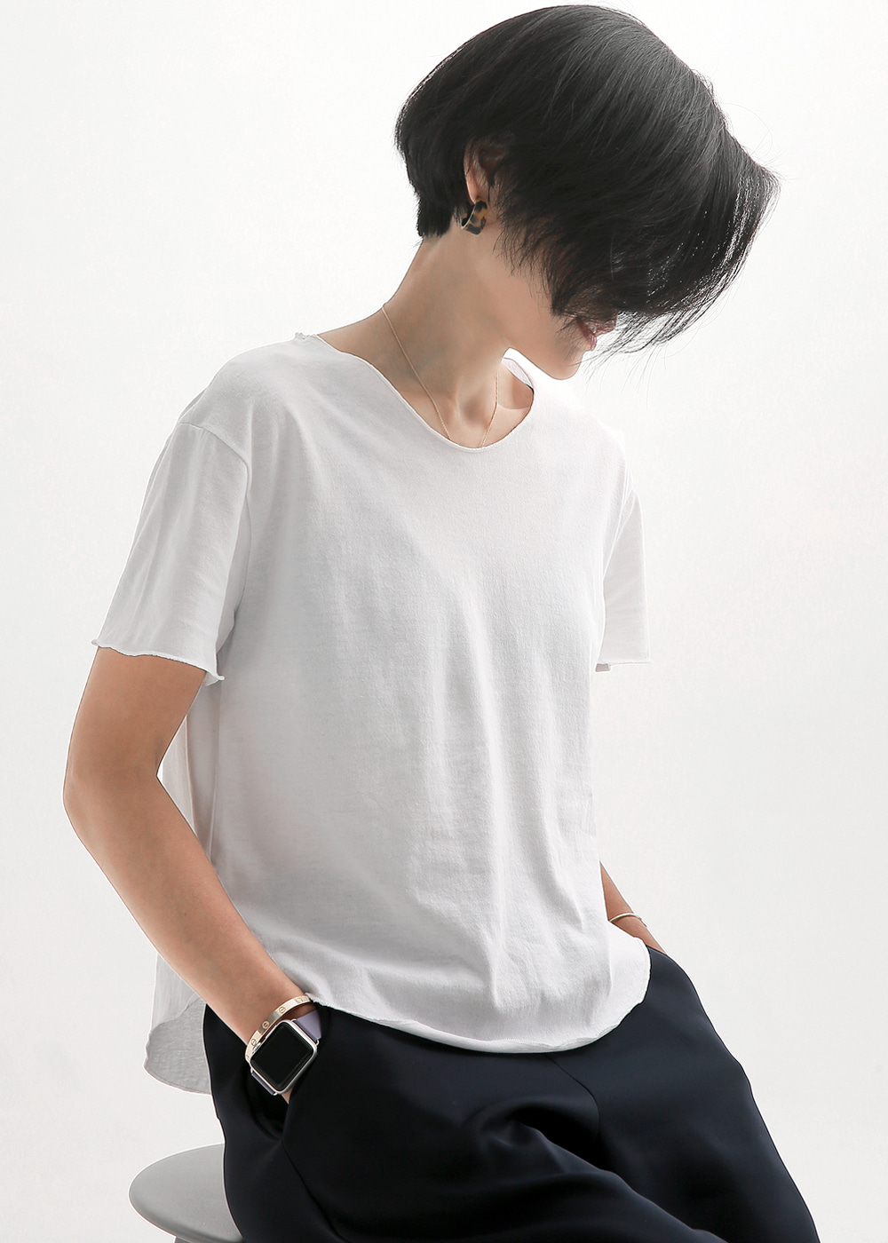 One Top Tee White/Black