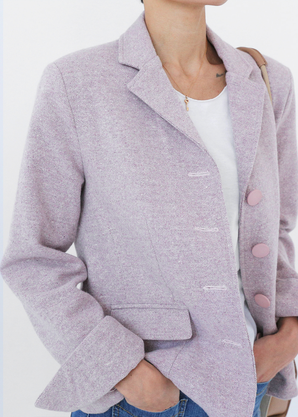 Classic Wool Jacket Pastel Lilac