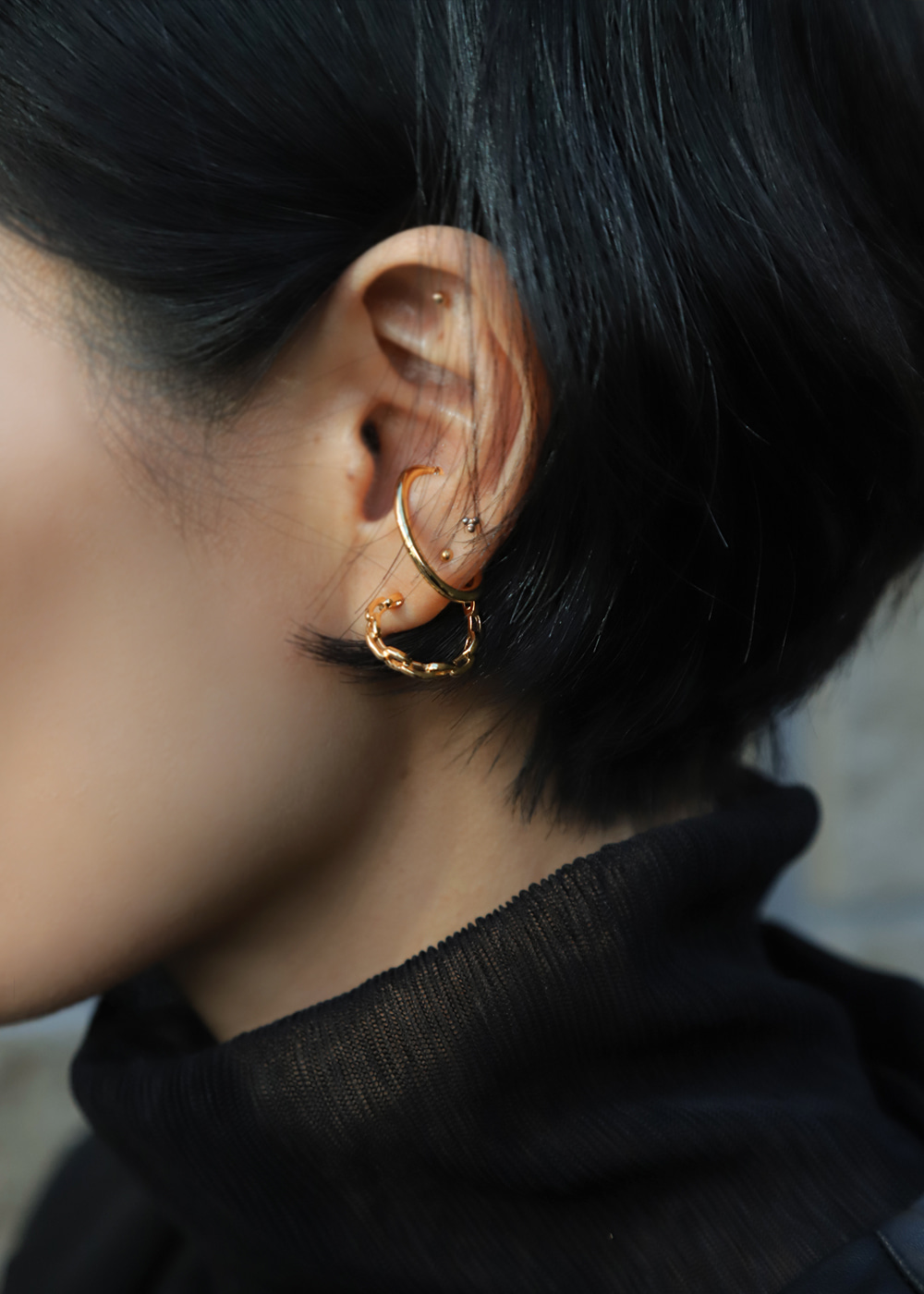 Twist Double Ear Cuff